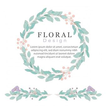 Ensemble de bordures florales