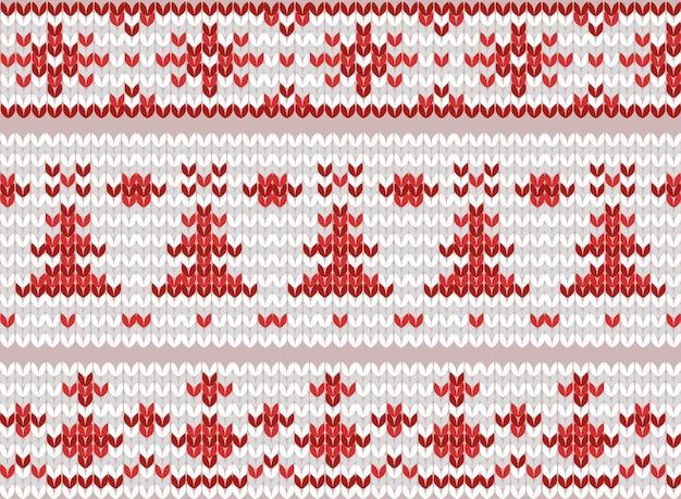 Ensemble de bordures tricotées sans couture. motifs folkloriques. éléments vectoriels