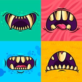 Ensemble de bouche de monstre