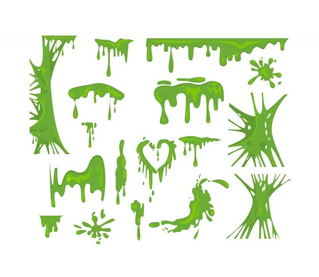 Ensemble de boue verte