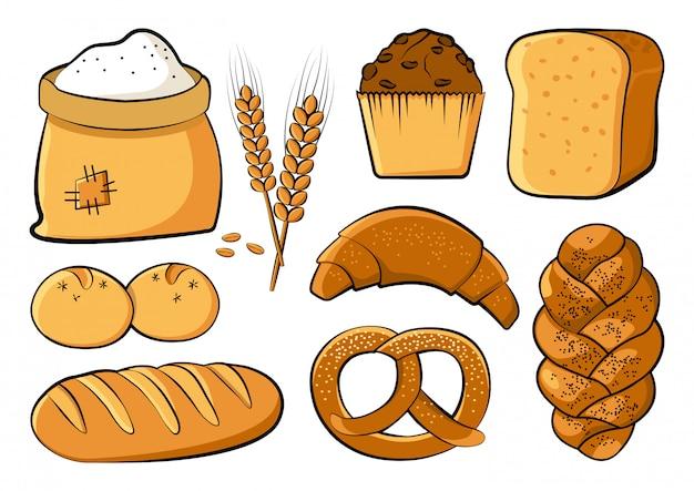 Ensemble de boulangerie, illustration