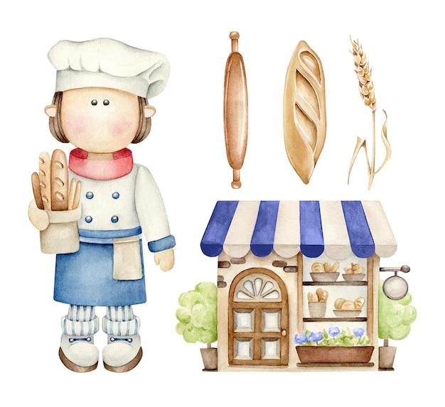 Ensemble de boulangerie.