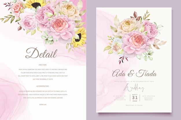 Ensemble de bouquets de roses aquarelles dessinés à la main