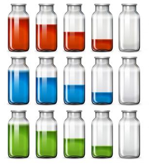 Un ensemble de bouteille liquide