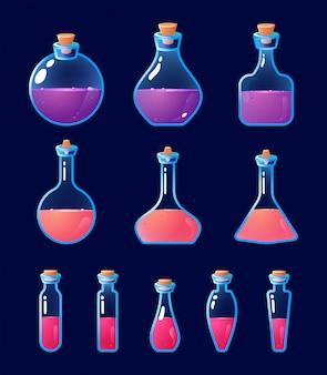 Ensemble de bouteille de potion
