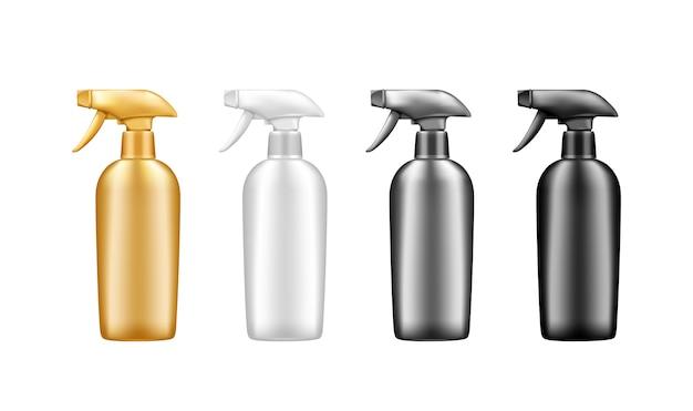 Ensemble de bouteilles cosmétiques de pulvérisation en plastique