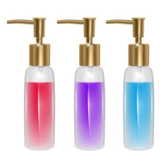 Ensemble de bouteilles de parfum isolé