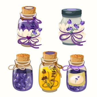 Ensemble de bouteilles de parfum de style provance