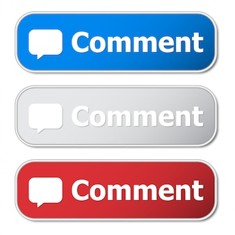 Ensemble de bouton de commentaire avec cadre en métal et ombre