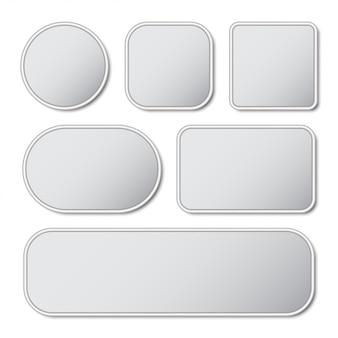 Ensemble de bouton vierge avec cadre en métal