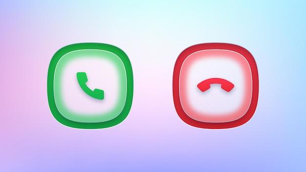 Ensemble de boutons d'appel transparents