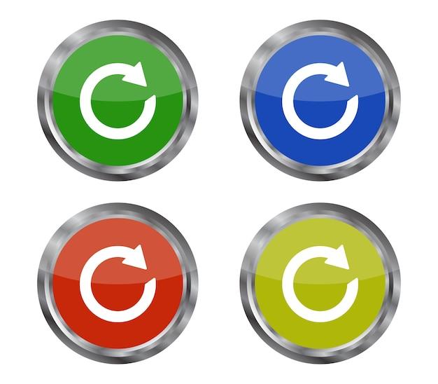 Ensemble de boutons de rechargement