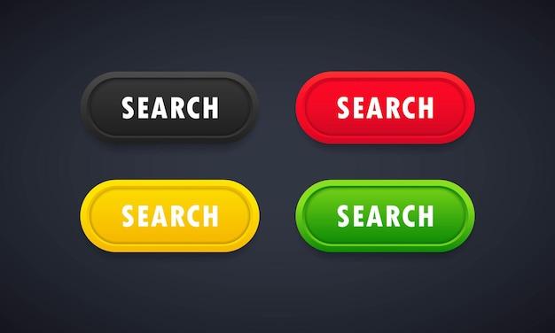 Ensemble de boutons de recherche.