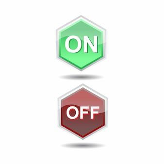 Ensemble de boutons de site web