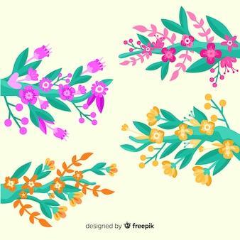 Ensemble de branches et de fleurs printanières
