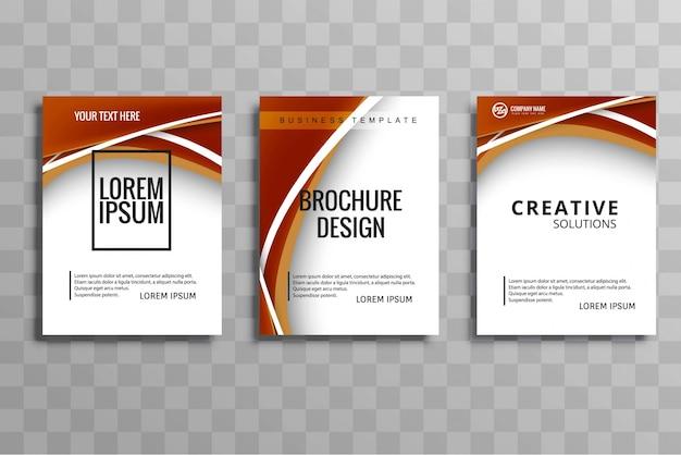 Ensemble de brochure d'affaires moderne vague