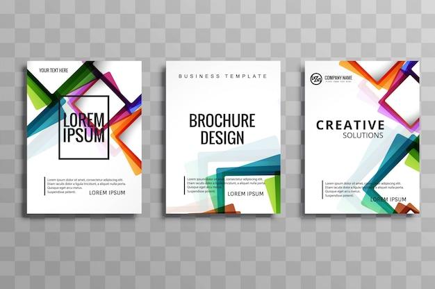 Ensemble De Brochure D'affaires Moderne Vecteur gratuit