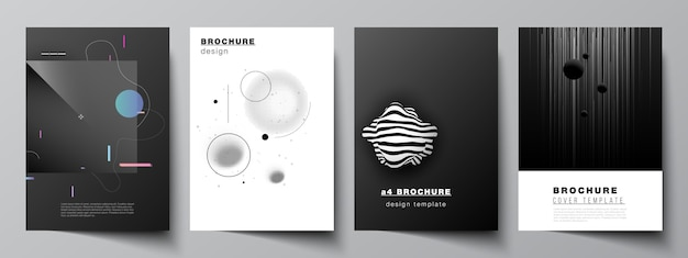 Ensemble De Brochures Vecteur Premium