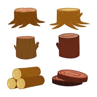 Ensemble de bûches de bois pour l'industrie forestière et du bois