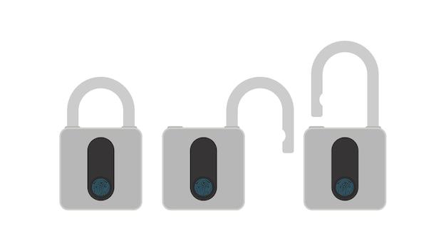 Ensemble de cadenas avec lecteur d'empreintes digitales.