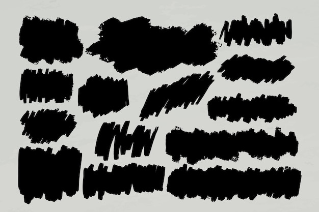 Ensemble de cadre de bannière de marqueur noir