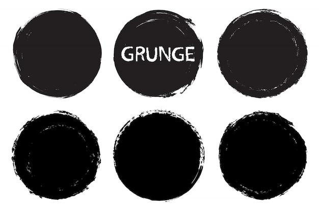 Ensemble de cadre cercle grunge