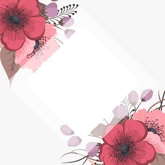 Ensemble de cadre floral avec des fleurs colorées.