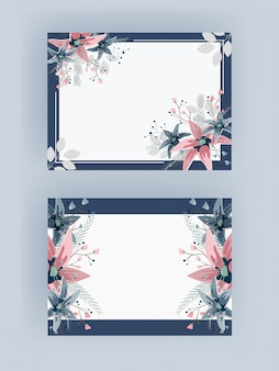 Ensemble de cadre floral.