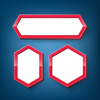 Ensemble de cadre hexagonal