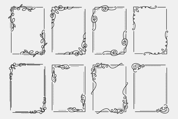 Ensemble de cadre ornemental calligraphique