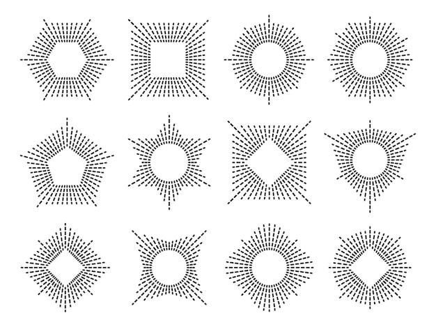 Ensemble de cadre sunburst minimal.