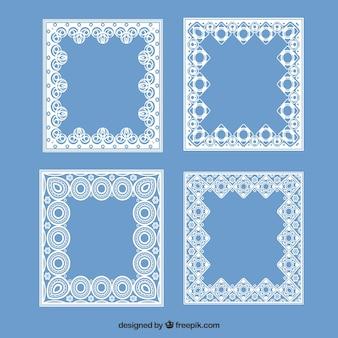 Ensemble de cadres carrés en dentelle