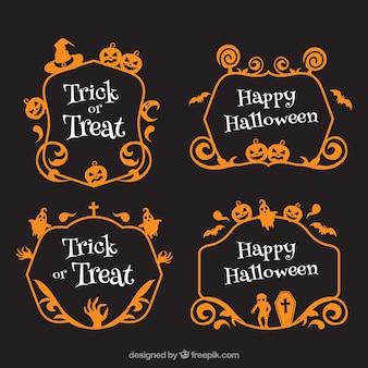 Ensemble de cadres décoratifs d'halloween