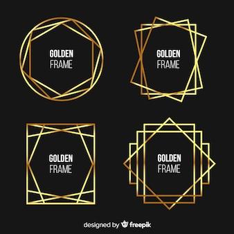 Ensemble de cadres en métal doré