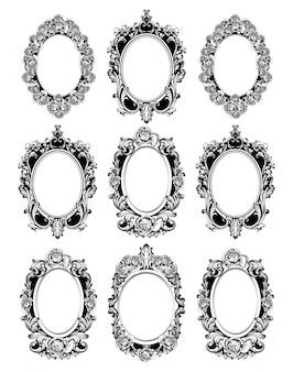Ensemble de cadres de miroirs vintage