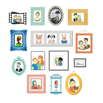 Ensemble de cadres vintage décoratifs et jeu de bordures