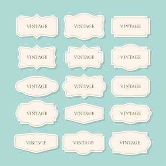 Ensemble de cadres vintage, ensemble de cliparts. collection rétro pour le design décoratif. collection frame retro pour le design décoratif. illustration vectorielle de stock.