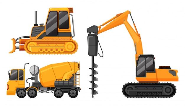 Un ensemble de camion de construction