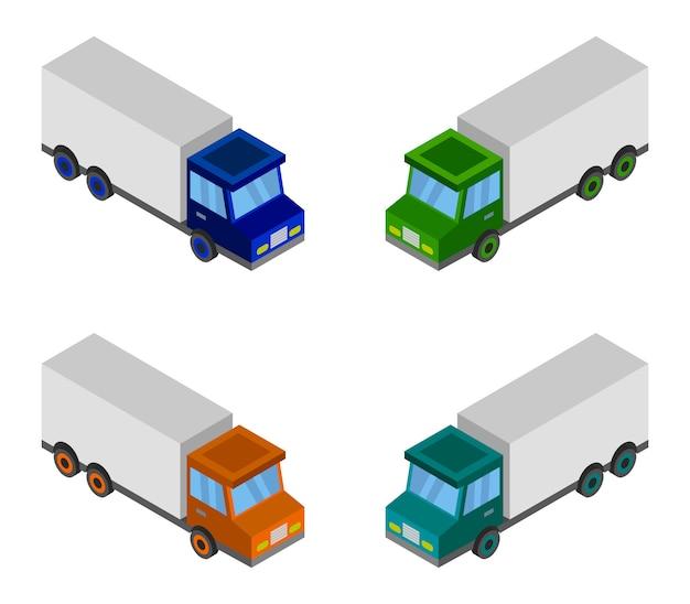 Ensemble de camion isométrique