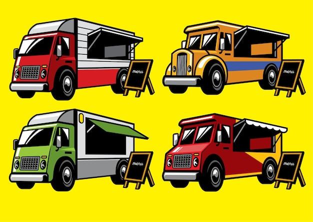 Ensemble de camion de nourriture