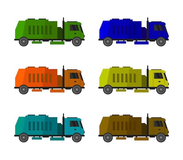 Ensemble de camion à ordures