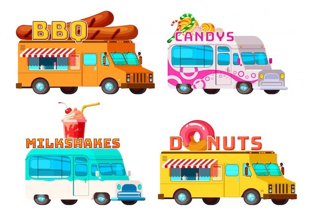 Ensemble de camions de nourriture