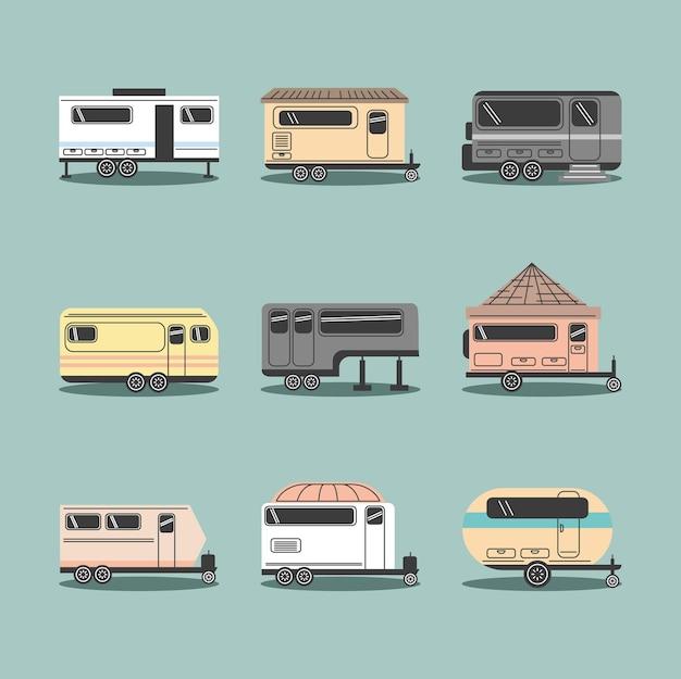 Ensemble de camping-car ou caravane
