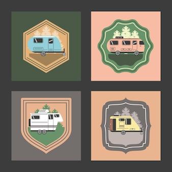 Ensemble de camping-cars