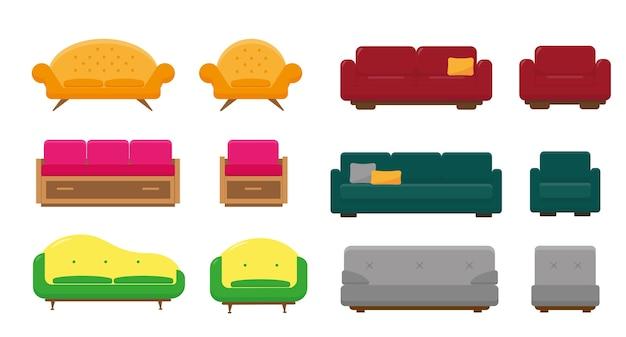 Ensemble de canapés et fauteuils pour salon