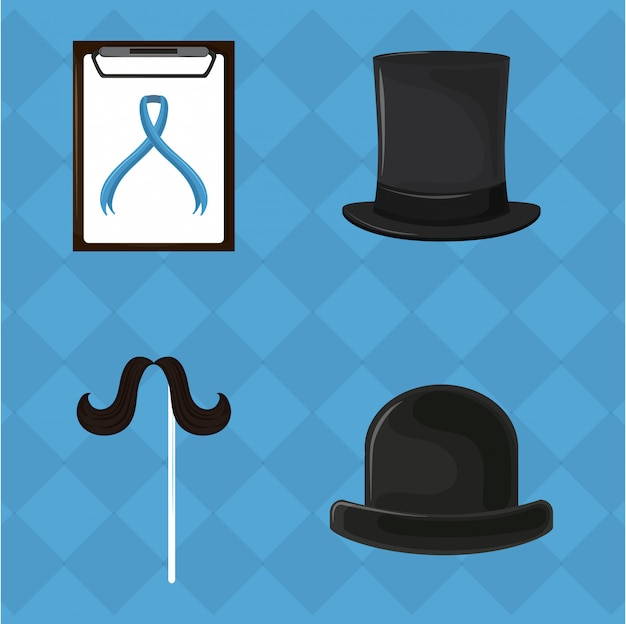 Ensemble de cancer de la prostate movember
