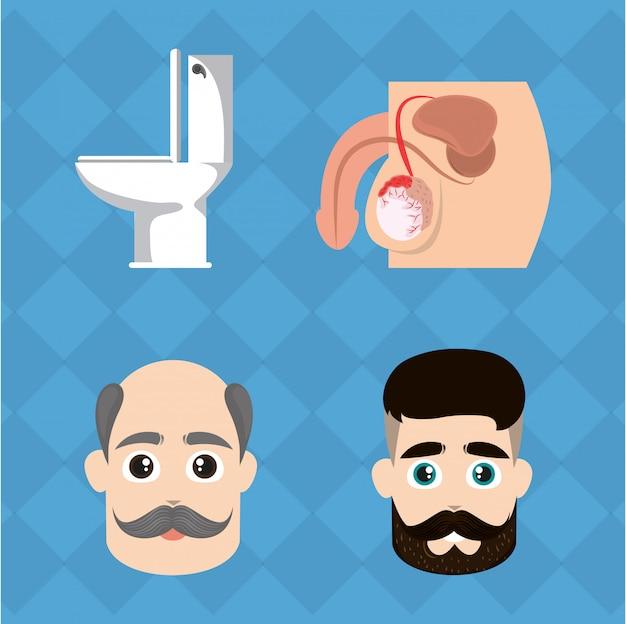 Ensemble de cancer de la prostate movember