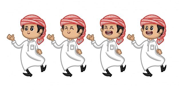 Ensemble de caractère musulman arabe pour ramadhan ou eid mubarak