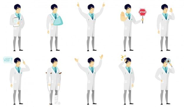 Ensemble de caractères de médecin