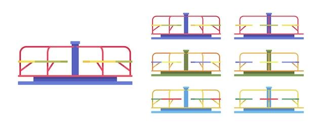 Ensemble de carrousel, équipement de parc de manège